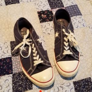 American Red White and Blue Star Converse